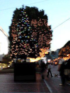 多摩センターのクリスマスツリー
