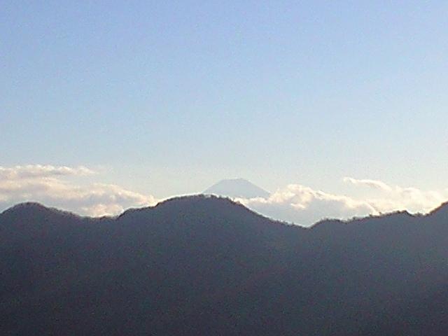 松姫峠からみた富士山