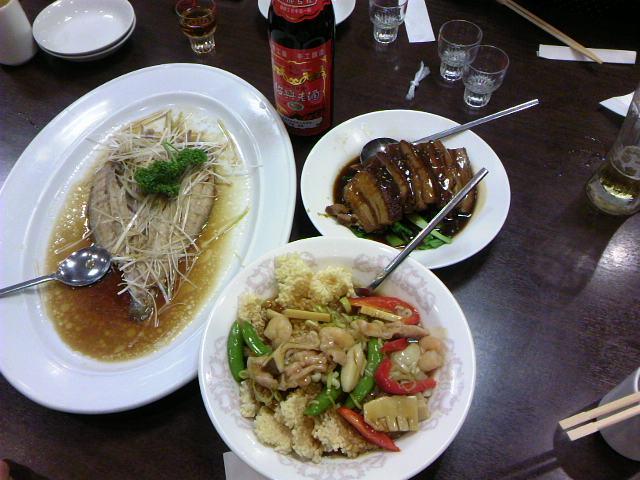 夕飯は中華料理