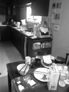 浸汚れされてく台所
