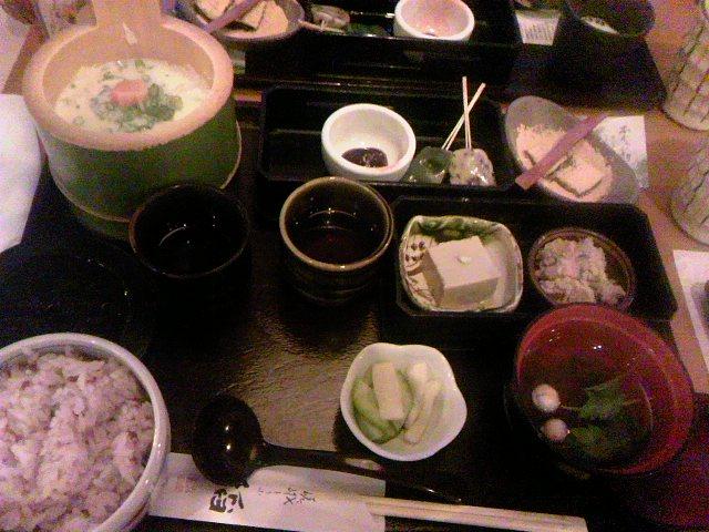 嵐山の夕飯
